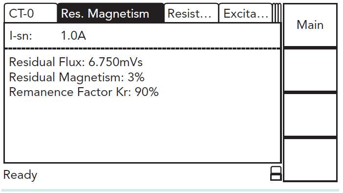 Hình 6: Thẻ thí nghiệm của CT Analyzer thể hiện kết quả đo của một thí nghiệm từ dư
